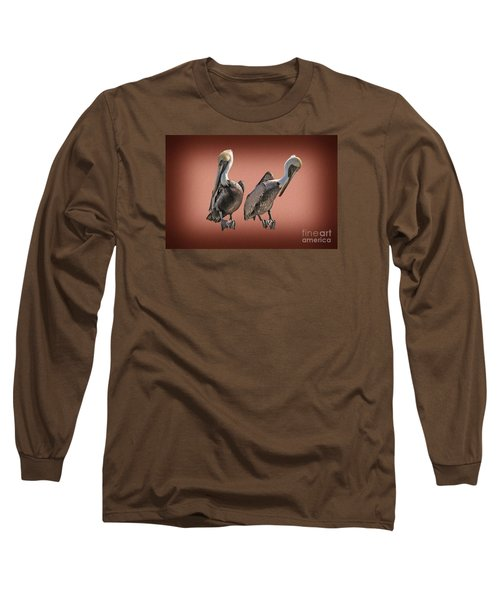 Long Sleeve T-Shirt featuring the photograph Pelicans Posing by Dan Friend