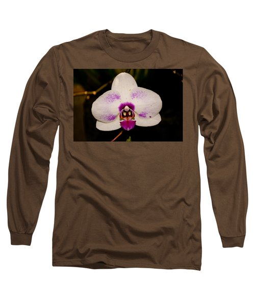 Long Sleeve T-Shirt featuring the photograph Phalaenopsis White Orchid by Tikvah's Hope