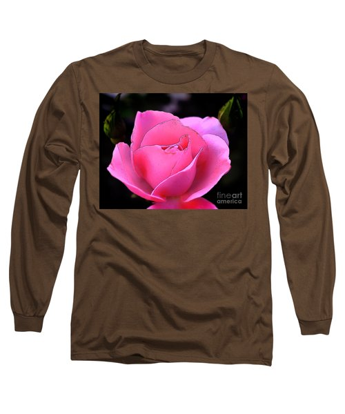 Pink Rose Day Long Sleeve T-Shirt by Clayton Bruster