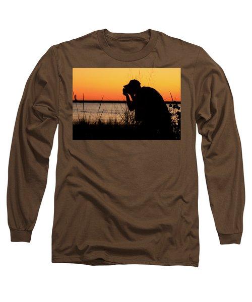 Portrait Of A Photographer Long Sleeve T-Shirt