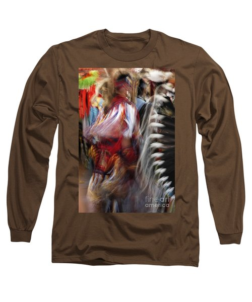 Long Sleeve T-Shirt featuring the photograph Pow Wow Dancer by Vivian Christopher