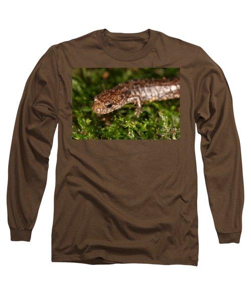 Red-backed Salamander Long Sleeve T-Shirt by Ted Kinsman