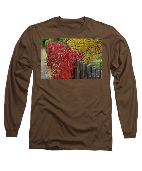 Red Fence Long Sleeve T-Shirt by Dorrene BrownButterfield