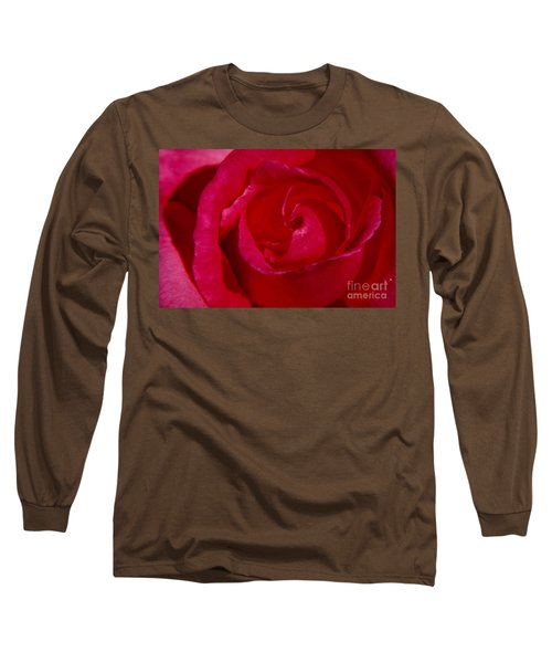 Red Rose Long Sleeve T-Shirt by Mark Gilman