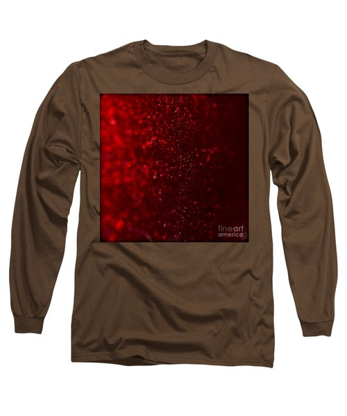 Red Sparkle Long Sleeve T-Shirt by Clare Bambers