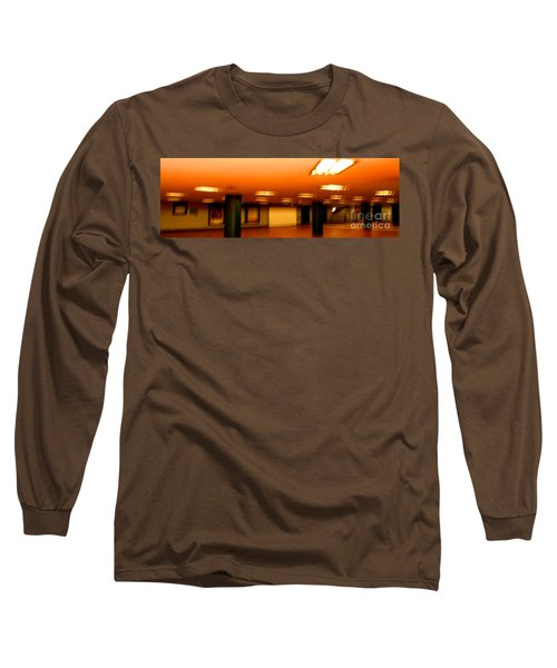 Long Sleeve T-Shirt featuring the photograph Red Subway by Andy Prendy