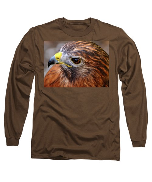 Red-tailed Hawk Close Up Long Sleeve T-Shirt