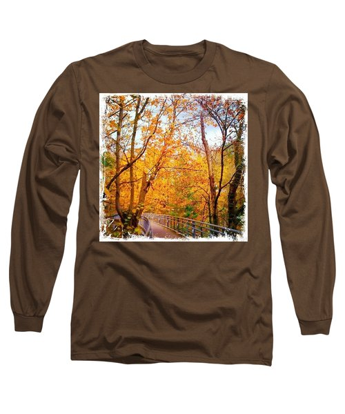 Reed College Canyon Bridge To Campus Long Sleeve T-Shirt by Anna Porter