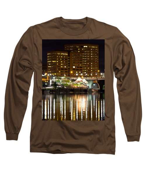River Front At Night Long Sleeve T-Shirt