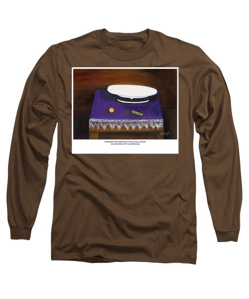 Long Sleeve T-Shirt featuring the painting Roberts Wesleyan College Division Of Nursing by Marlyn Boyd