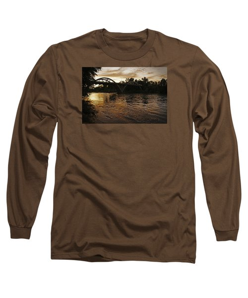 Rogue River Sunset Long Sleeve T-Shirt by Mick Anderson