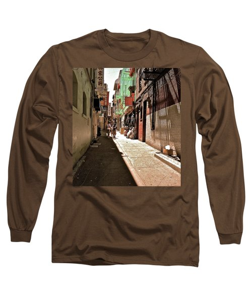 San Fran Chinatown Alley Long Sleeve T-Shirt by Bill Owen