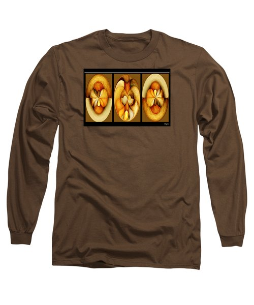 Sanded Woods Triptych Dark Long Sleeve T-Shirt