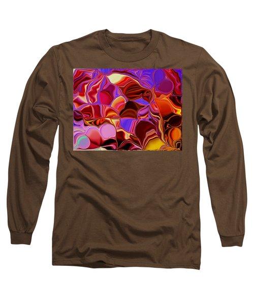 Shades Of Satin Long Sleeve T-Shirt by Renate Nadi Wesley