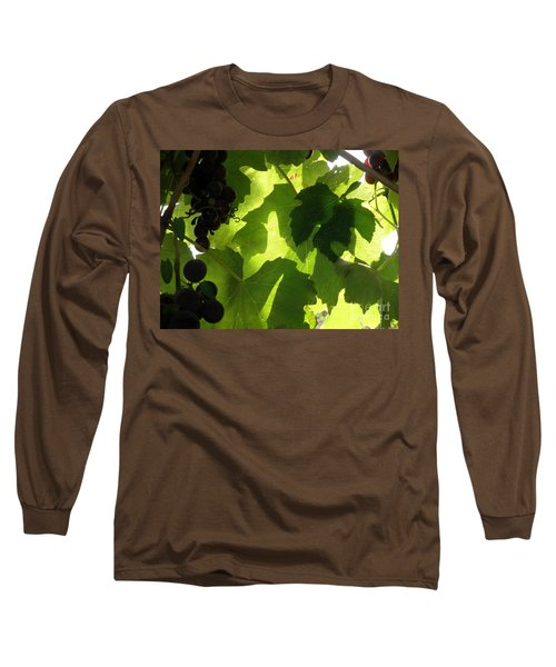 Long Sleeve T-Shirt featuring the photograph Shadow Dancing Grapes by Lainie Wrightson
