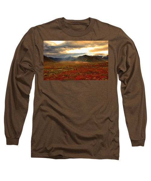 Shaft Of Sunlight Hitting The Fall Long Sleeve T-Shirt