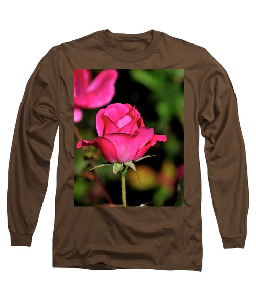 Simple Red Rose Long Sleeve T-Shirt