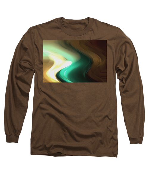 Long Sleeve T-Shirt featuring the mixed media Sine Of Ninety by Terence Morrissey
