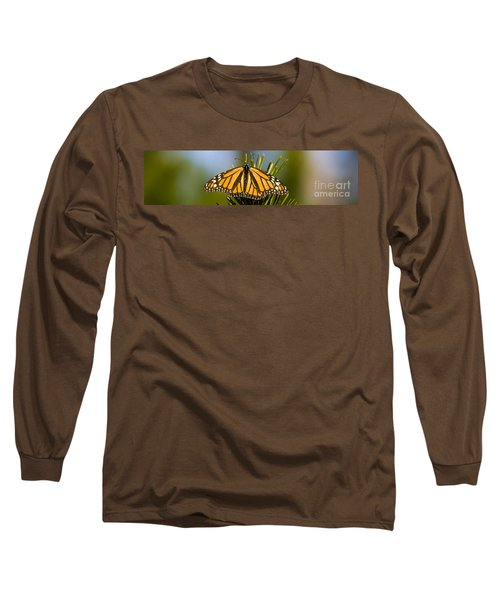 Single Monarch Butterfly Long Sleeve T-Shirt by Darcy Michaelchuk