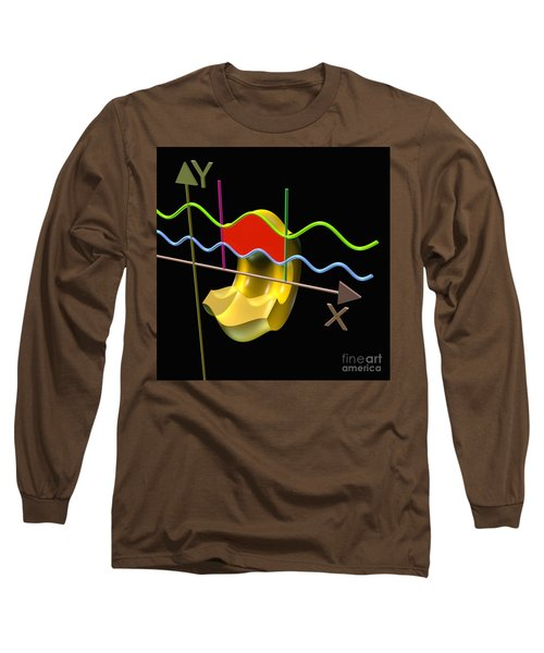 Long Sleeve T-Shirt featuring the digital art Solid Of Revolution 3 by Russell Kightley