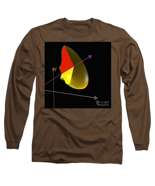 Long Sleeve T-Shirt featuring the digital art Solid Of Revolution 4 by Russell Kightley
