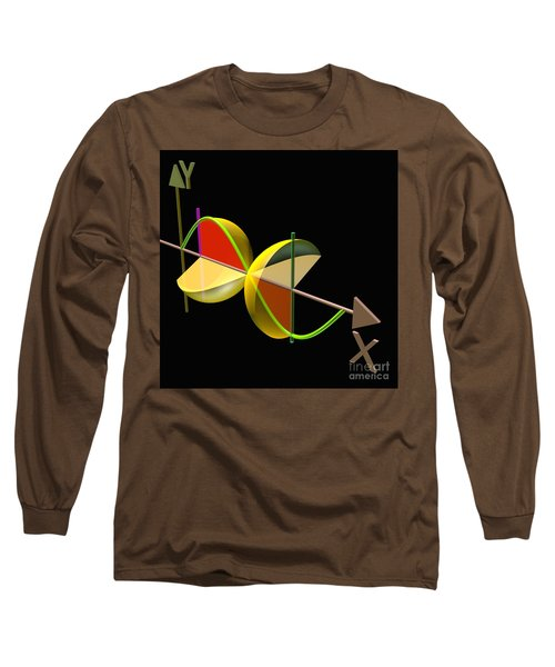 Long Sleeve T-Shirt featuring the digital art Solid Of Revolution 5 by Russell Kightley