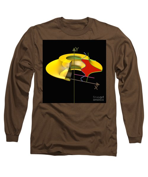 Long Sleeve T-Shirt featuring the digital art Solid Of Revolution 6 by Russell Kightley