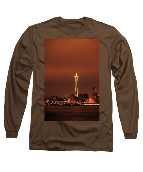 Space Needle Morning Long Sleeve T-Shirt