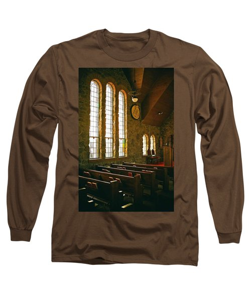 Long Sleeve T-Shirt featuring the photograph St Malo Church by David Pantuso