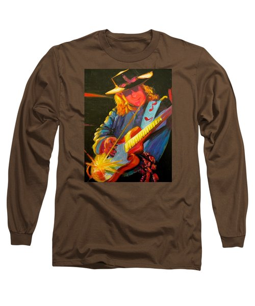 Stevie Ray Vaughn Long Sleeve T-Shirt by Jeanette Jarmon