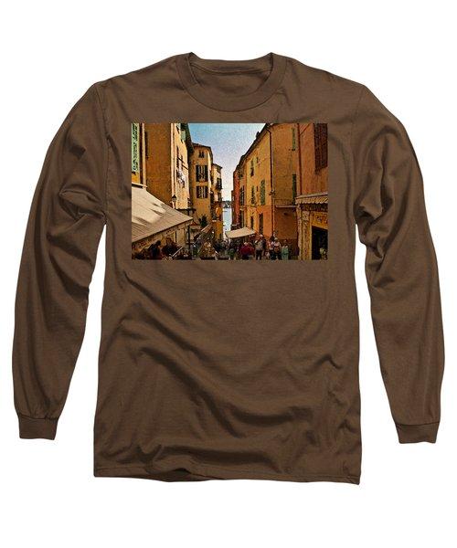 Street In Villefranche II Long Sleeve T-Shirt