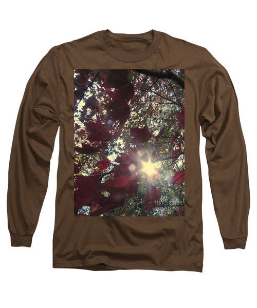 Long Sleeve T-Shirt featuring the photograph Sun Shine Through by Donna Brown