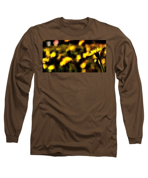 Long Sleeve T-Shirt featuring the mixed media Sun Worshiper by Terence Morrissey