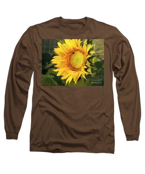 Long Sleeve T-Shirt featuring the digital art Sunflower Digital Art by Deniece Platt