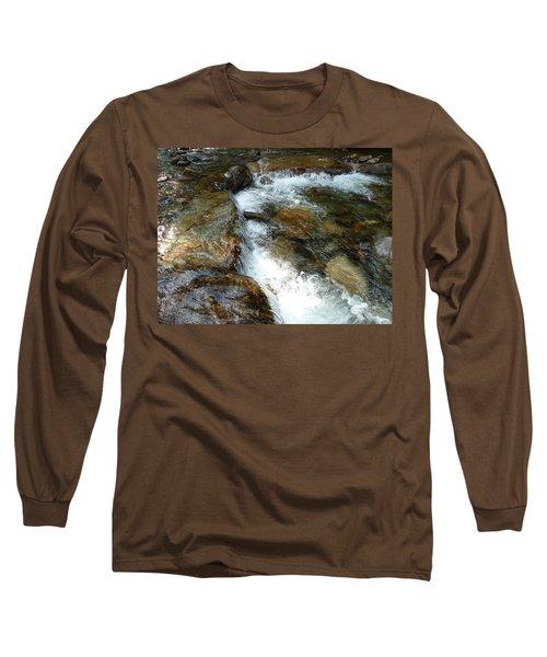 Sunlit Cascade Long Sleeve T-Shirt by Joel Deutsch