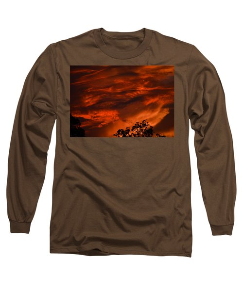 Long Sleeve T-Shirt featuring the photograph Sunset Over Altoona by DigiArt Diaries by Vicky B Fuller