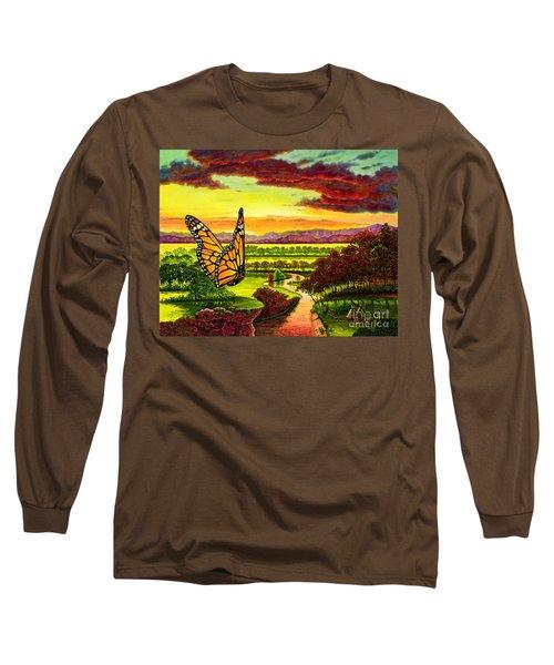 Sunshine Traveler-monarch Long Sleeve T-Shirt