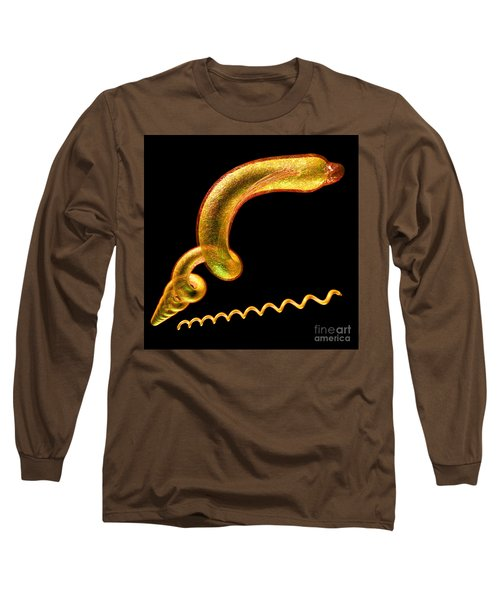 Long Sleeve T-Shirt featuring the digital art Syphilis by Russell Kightley