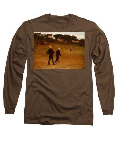 The Ball Players Long Sleeve T-Shirt by William Morris Hunt