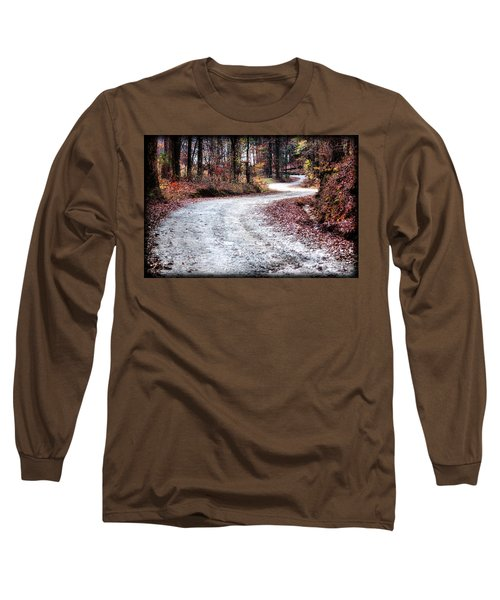 Long Sleeve T-Shirt featuring the photograph The Broken Road by Lynne Jenkins