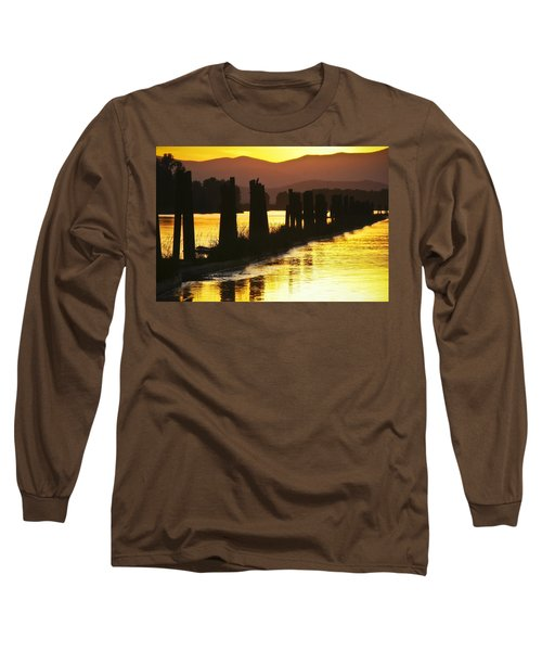 Long Sleeve T-Shirt featuring the photograph The Lost River Of Gold by Albert Seger