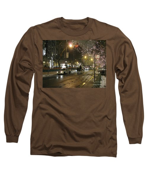 Long Sleeve T-Shirt featuring the photograph The Past Meets The Present In Chicago Il by Ausra Huntington nee Paulauskaite