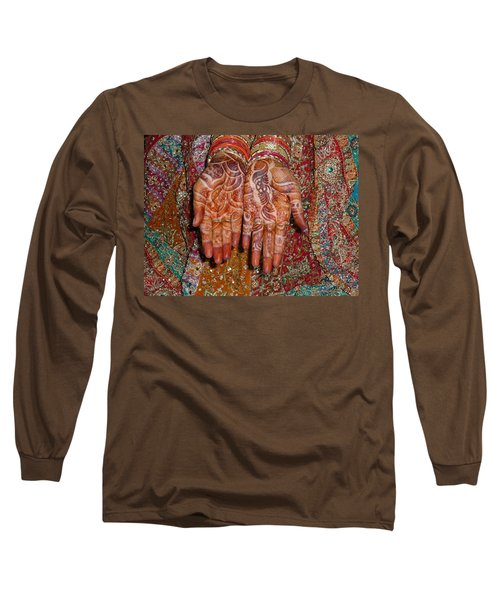 The Wonderfully Decorated Hands And Clothes Of An Indian Bride Long Sleeve T-Shirt