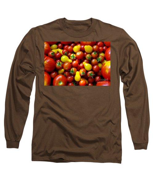 Tomatoes Background Long Sleeve T-Shirt