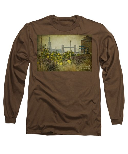 Long Sleeve T-Shirt featuring the photograph Tower Bridge In Springtime. by Clare Bambers