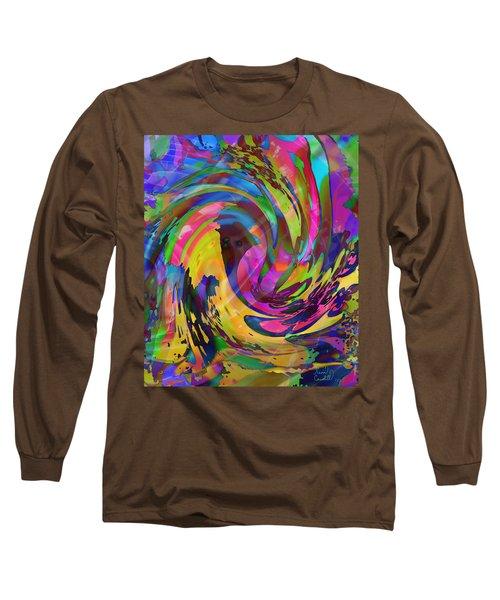 Long Sleeve T-Shirt featuring the mixed media Tsunami by Kevin Caudill