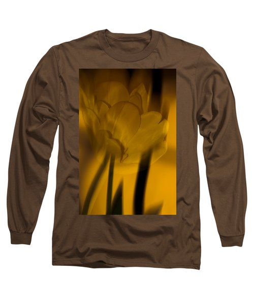 Long Sleeve T-Shirt featuring the photograph Tulip Abstract by Ed Gleichman