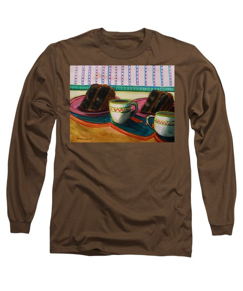 Long Sleeve T-Shirt featuring the painting Twin Devil's Food by John Williams