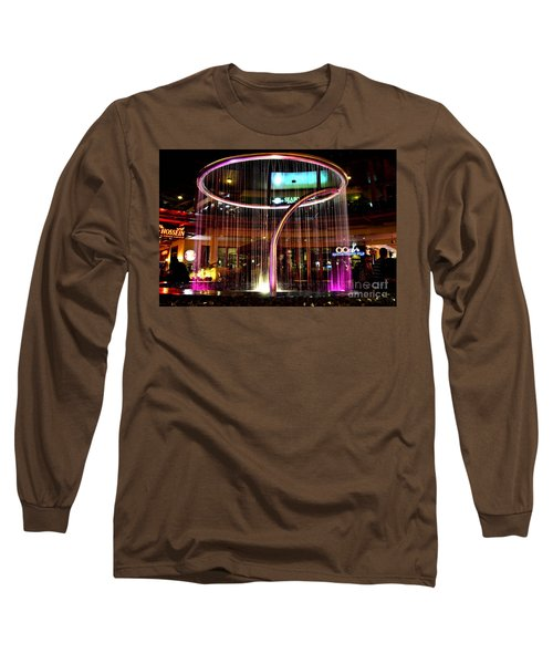 Water Fountain With Circle Seven Shape Long Sleeve T-Shirt