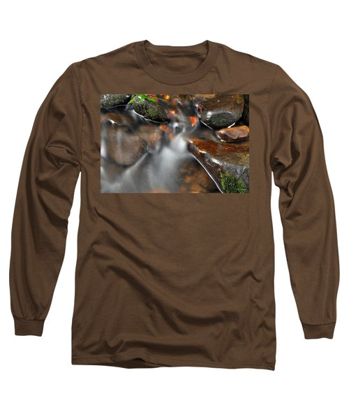 Long Sleeve T-Shirt featuring the photograph Water Over Rocks by Kay Lovingood